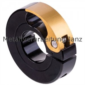 Schnellspann-Klemmring Aluminium schwarz eloxiert Bohrung 12 mm - 1 Stück