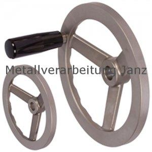 Speichen-Handrad aus Vollmaterial Edelstahl 1.4308 Ausführung B/G ohne Griff Durchmesser 125mm - 1 Stück