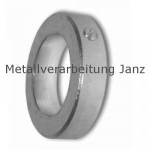 Stellring DIN 705 A Bohrung 8mm Stahl Verzinkt Gewindestift mit Schlitz nach DIN EN 27434 (alte DIN 553) - 1 Stück