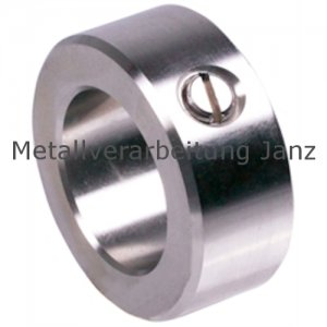 Stellring DIN 705 A Bohrung 18mm Edelstahl Gewindestift mit Schlitz nach DIN EN 27434 (alte DIN 553) - 1 Stück