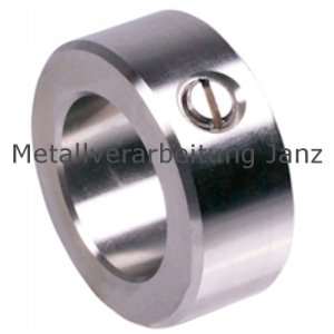 Stellring DIN 705 A Bohrung 20mm Stahl Gewindestift mit Schlitz nach DIN EN 27434 (alte DIN 553) - 1 Stück