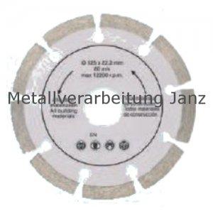 Diamant Trennscheibe 105 mm x 22,2 x 2,0 segm. Rand - 1 Stück