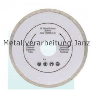 Diamant Trennscheibe 230mm x 22,2 x 2,4 durchg. Rand - 1 Stück