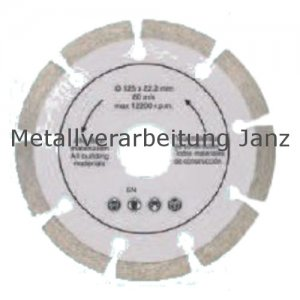 Diamant Trennscheibe 180 mm x 22,2 x 2,2 segm. Rand - 1 Stück