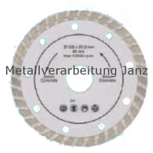Diamant Trennscheibe 115 mm x 22,2 x 2,20 turbo Rand - 1 Stück