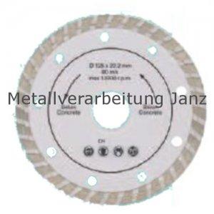 Diamant Trennscheibe 125 mm x 22,2 x 2,15 turbo Rand - 1 Stück