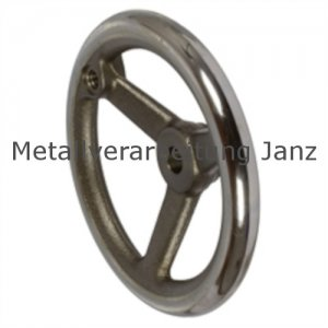 Speichen-Handrad DIN 950 aus Grauguss 3 Speichen Kranz gedreht und poliert Ausführung B/A Durchmesser 315mm - 1 Stück