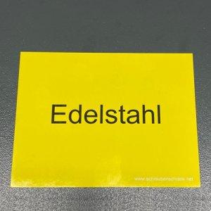 Magnetschild EDELSTAHL- 1 Stück
