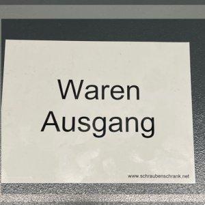 Magnetschild WAREN AUSGANG - 1 Stück