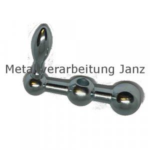 Kugelkurbel 2140 l=34mm Material Stahl mit Ballengriff DIN 39 - 1 Stück