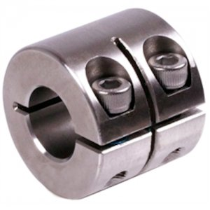 Geschlitzter Klemmring breit Edelstahl 1.4305 Bohrung 20mm mit Schrauben DIN 912 A2-70 - 1 Stück