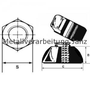 Abreissmuttern M16 aus A2 Edelstahl mit Abreissmoment 45-60 Nm - 100 Stück