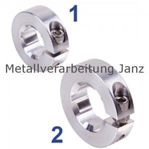 Klemmring geschlitzt Material Aluminium mit Keilwellenprofil KN 21 x 25 - 1 Stück