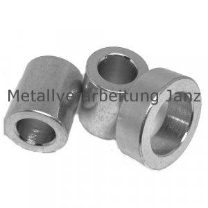 Distanzbuchse TS Stahl verzinkt Innendurchmesser 8mm Außendurchmesser 13mm Länge 7mm - 1 Stück