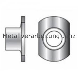 Anschweißmutter M8 d26/h11 Form C ohne Anschweißpunkte Edelstahl A2 - 100 Stück
