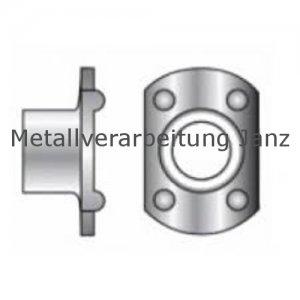 Anschweißmutter M6 d22/h8,5 Form A mit 2 Anschweißpunkten Edelstahl A2 - 100 Stück