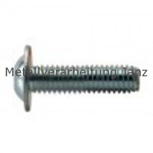 Linsenschrauben mit Innensechskant und Bund 10.9 ISO 7380-2 verzinkt M3x6 - 500 Stück