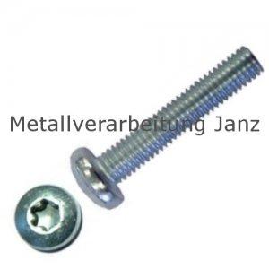 ähnlich DIN 7985 Linsenschraube mit Torx, verzinkt M2x4 - 2000 Stück