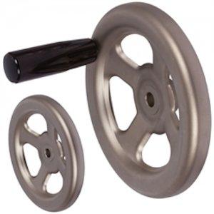 Speichen-Handrad aus 1.4301 Ausführung B/G mit Griff Durchmesser 160mm - 1 Stück
