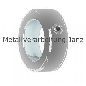 Stellring DIN 705 A Bohrung 15mm Oberfläche Stahl verzinkt Gewindestift mit Innensechskant nach DIN EN ISO 4027 (alte DIN 914) - 1 Stück