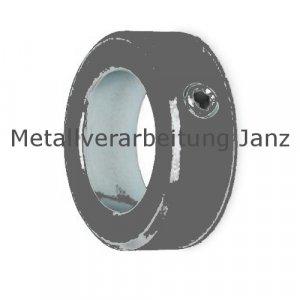 Stellring DIN 705 A Bohrung 10mm Oberfläche Stahl brüniert Gewindestift mit Innensechskant nach DIN EN ISO 4027 (alte DIN 914) - 1 Stück