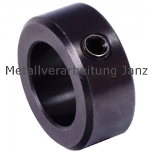 Stellring DIN 705 A Bohrung 12mm Oberfläche Stahl brüniert Gewindestift mit Innensechskant nach DIN EN ISO 4027 (alte DIN 914) - 1 Stück