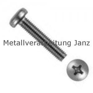 Linsenschrauben m. Kreuzschlitz PH DIN 7985 A4 Edelstahl M2x18 - 1000 Stück