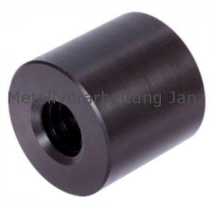 Runde Trapezgewindemutter DIN 103 Tr.12 x 3 eingängig rechts Länge 24mm Aussendurchmesser 26mm Material PA6.6+MoS2 -1 Stück