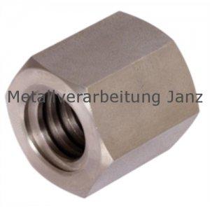 Sechskantmutter mit Trapezgewinde DIN 103 Tr.12 x 3 eingängig rechts Länge 18mm Schlüsselweite 19mm Material 1.4305 -1 Stück
