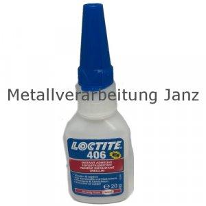 Loctite 406 Universal-Sofortklebstoff für Kunststoff und Gummi Inhalt 20g