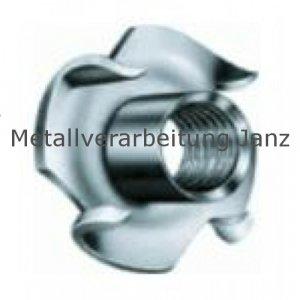 Einschlagmuttern M8x11mm A2 Edelstahl 100 Stück