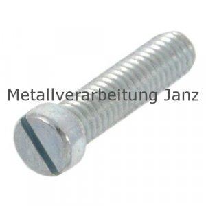 DIN 920 Flachkopfschrauben m. Schlitz u. kleinem Kopf M6x8 Edelstahl A2 - 200 Stück