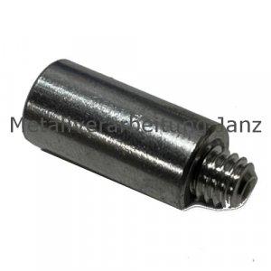 Fettnippel / Schmiernippel Verlängerung Edelstahl M 6X1,0 mm Länge 20 mm Ø 10 - 1 Stück