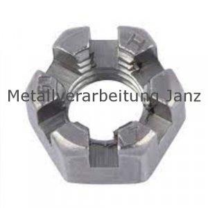 DIN 937 Kronenmuttern, niedrige Form A4 Edelstahl M 12 - 50 Stück