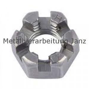 DIN 937 Kronenmuttern, niedrige Form A4 Edelstahl M 18 - 25 Stück