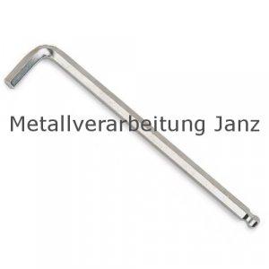 Sechskant-Stiftschlüssel mit Kugelkopf, lange Ausführung, SW 2,5, L. 112x18mm 1 Stück