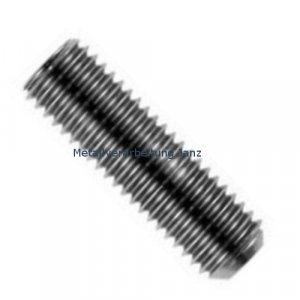 Gewindestifte mit Innensechskant u. Kegelkuppe 45H ISO 4026 (ehem. DIN 913) M2x6 blank - 10 Stück