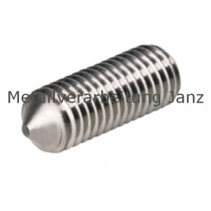 DIN 914/ISO 4027 Gewindestifte mit Innensechskant und Spitze, A4 Edelstahl, M3x4 - 500 Stück