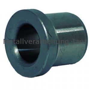 Bohrbuchse mit Bund Durchmesser 1,0/3/6 x 6 mm Lager für 1,0 mm Welle - 1 Stück
