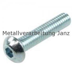 A2 Edelstahl Linsenkopfschrauben ISO 7380 mit Innensechskant