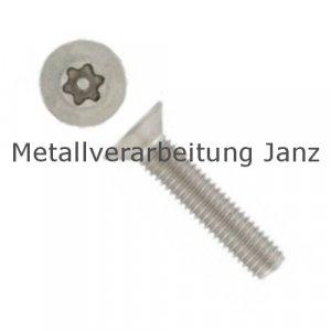 A2 Edelstahl Sicherheitschrauben ähnl DIN 7991 Senkkopf mit Torx und Pin