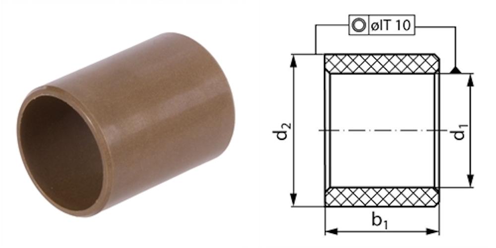 Thermoplast Polyphenylensulfid, verstärkt, mit Gleitzusätzen