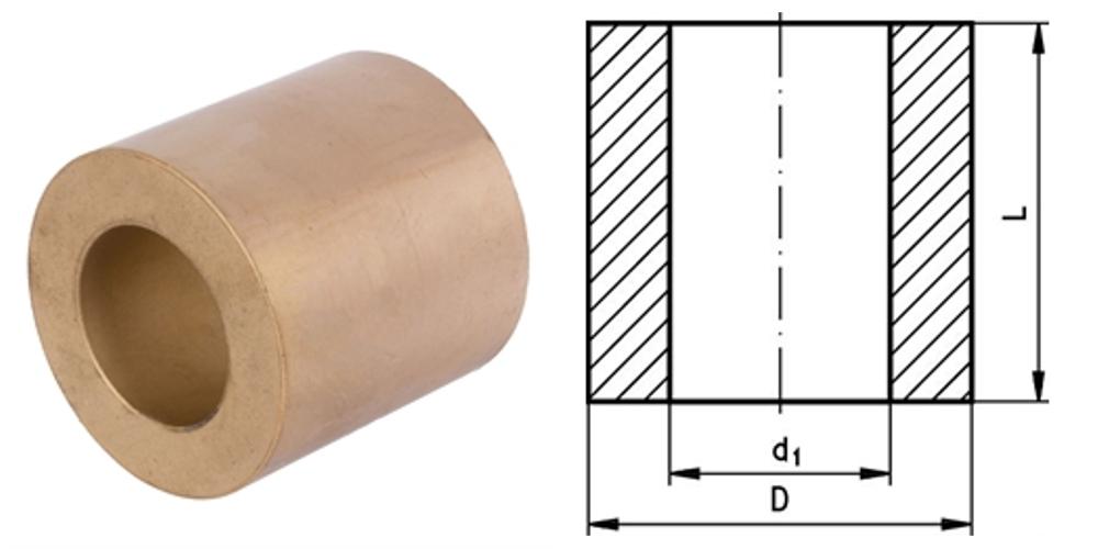 Rohmaterial aus Sinterbronze mit Bohrung für Gleitlagerherstellung