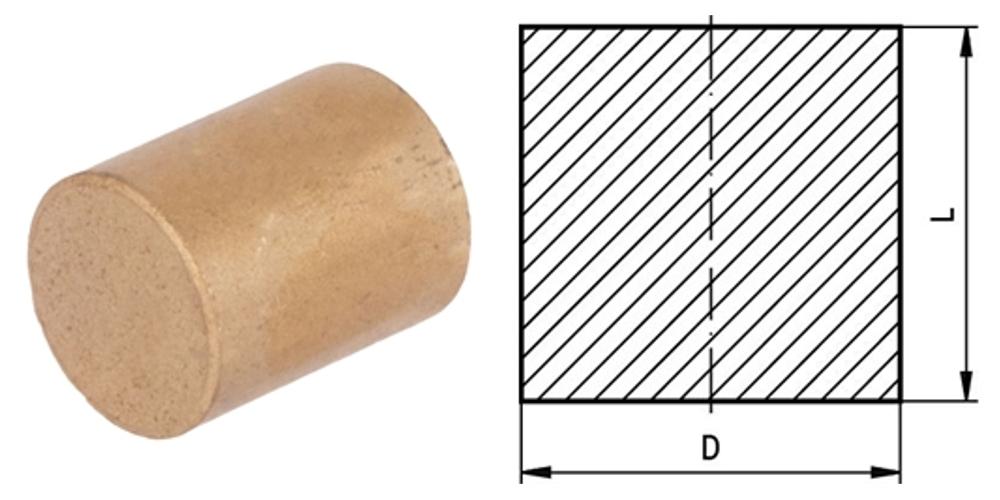 Vollmaterial aus Sinterbronze zur weiteren Bearbeitung zu Gleitlagern