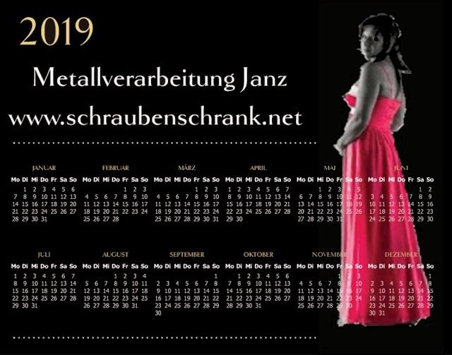 Kalender 2019 mit Sandra Fischer