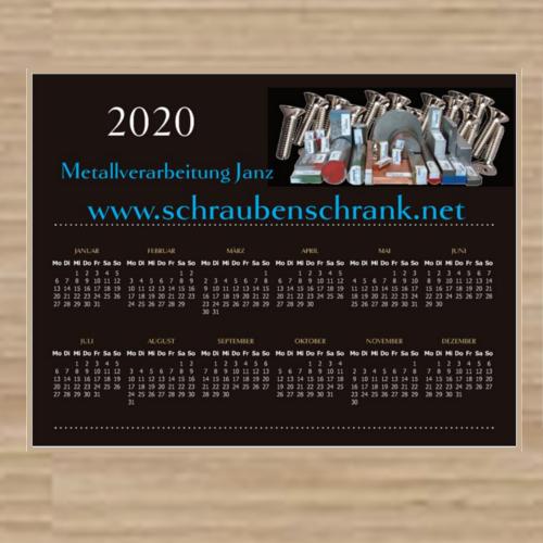 Kalender 2020 Metallverarbeitung Janz